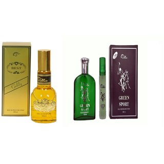 Vablon Exotic Best Gold and Green Sports Combo Perfume 120ml+120ml