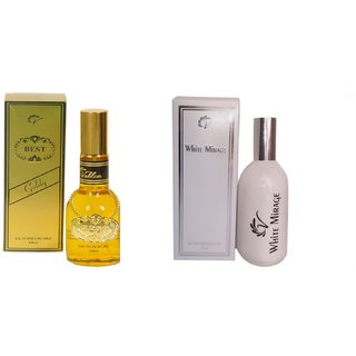 Vablon Exotic Best Gold and White Mirage Combo Perfume 120ml+120