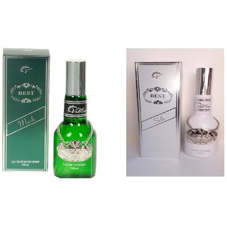 Vablon Exotic Best Musk and Best Silk Combo Perfume 120ML+120ML