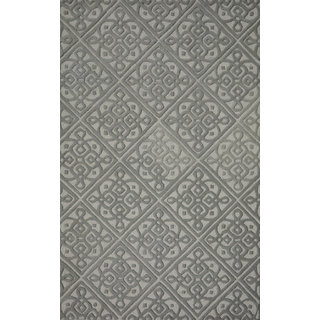 Rugs N More hand tufted Grey 5ft x 8ft carpet