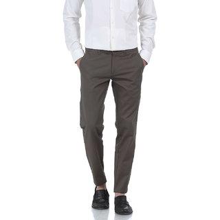 Basics Tapered Fit Dark Gull Grey Wrinkle Free Trousers