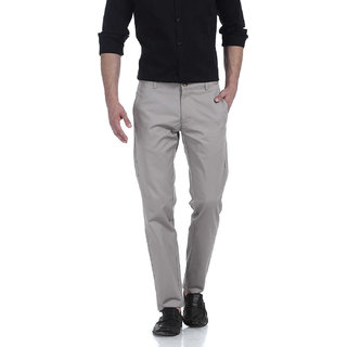 Basics Tapered Fit Whitecap Grey Wrinkle Free Trousers