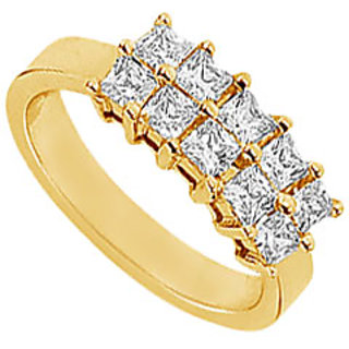 Statuesque Diamond Ring In 14K Yellow Gold