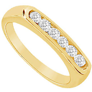 Delicate Diamond Wedding Band In 14K Yellow Gold