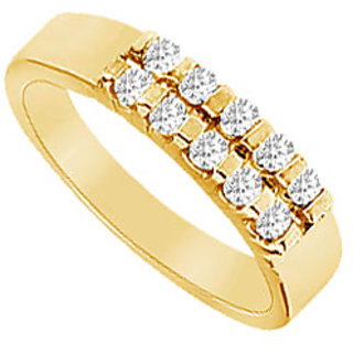 Admirable Diamond Wedding Band In 14K Yellow Gold