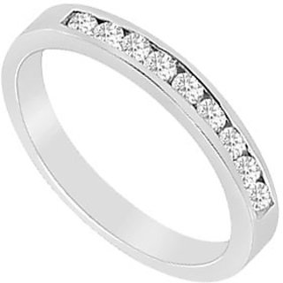 Excellent Diamond Wedding Band In 14K White Gold