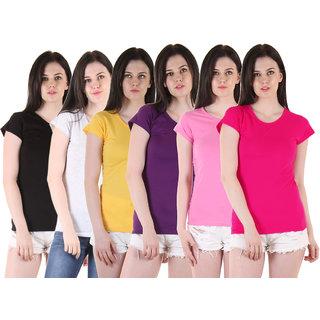 Diaz Black Grey Yellow Purple Pink Pink Cotton Tops