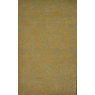 Rugs N More hand tufted Yellow 5ft x 8ft carpet