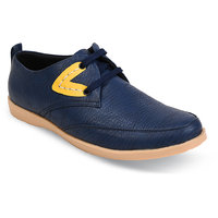 Duke Mens Blue Lace-Up Casual Shoes
