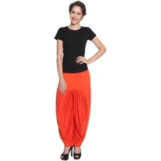 Pietra Orange colored Pan Style Dhoti