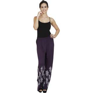 Pietra Purple Cotton Palazzos