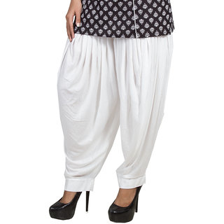 Pietra White colored Pan Style Dhoti