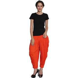Pietra Light Orange colored Pan Style Dhoti