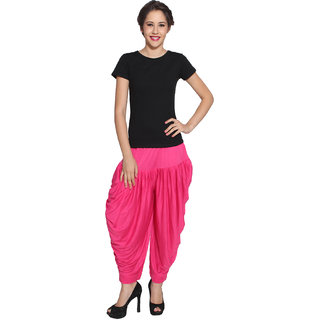 Pietra Dark Pink colored Pan Style Dhoti
