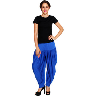 Pietra Blue colored Pan Style Dhoti