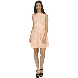 Orange Knitted Dress