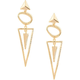 Shining Jewel Elegant Gold Geometric Metallic Earrings  (SJ429)