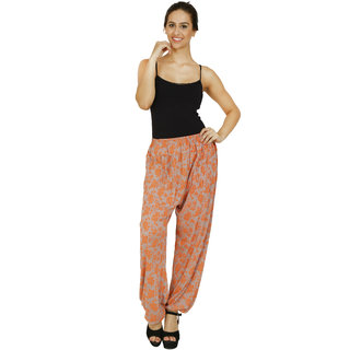 Pietra Fawn colored printed Harem Pants