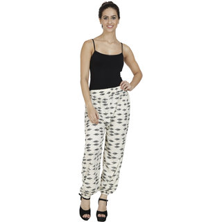Pietra cream colored printed Harem Pants
