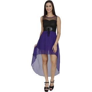 Purple colored dress