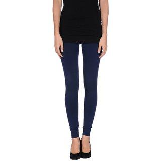 Pietra Dark Blue colored plain legging