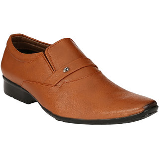 BONTONO Men's Tan Formal Shoe