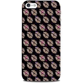 Mikzy Mutiple Lips Pattern Printed Designer Back Cover Case for Iphone 5/5S
