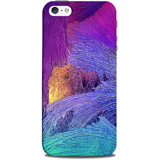 Mikzy Multicolour Texture Pattern Printed Designer Back Cover Case for Iphone 5/5S
