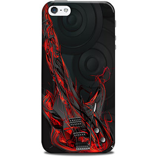 Mikzy Guitar In Red Printed Designer Back Cover Case for Iphone 5/5S