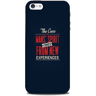 Mikzy The Core Of Man'S Spirit Printed Designer Back Cover Case for Iphone 5/5S