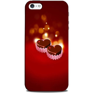 Mikzy Little Choclate Heart Printed Designer Back Cover Case for Iphone 5/5S