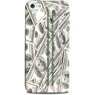Mikzy Focus On Being The Best With Dollars Background Printed Designer Back Cover Case for Iphone 5/5S