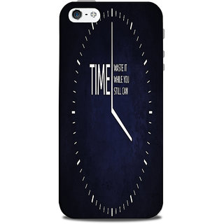 Mikzy Time Analog Clock Printed Designer Back Cover Case for Iphone 5/5S