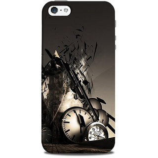 Mikzy Mechenical Effects Printed Designer Back Cover Case for Iphone 5/5S