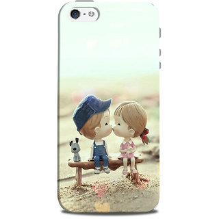 Mikzy Boy And Girl Kiising Cartoon Printed Designer Back Cover Case for Iphone 5/5S