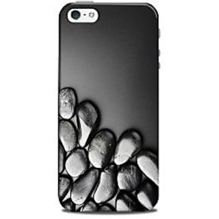 Mikzy Silver Pebbles Printed Designer Back Cover Case for Iphone 5/5S