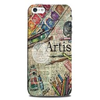 Mikzy Artist Pattern Printed Designer Back Cover Case for Iphone 5/5S