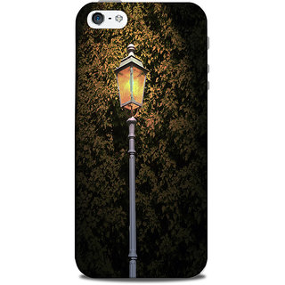 Mikzy Yellow Lamp Effect In Night Printed Designer Back Cover Case for Iphone 5/5S