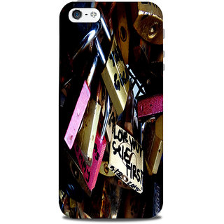 Mikzy Multiple Lock With Messages Printed Designer Back Cover Case for Iphone 5/5S