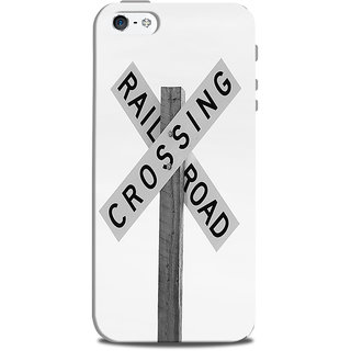 Mikzy Railroad Crossing Printed Designer Back Cover Case for Iphone 5/5S