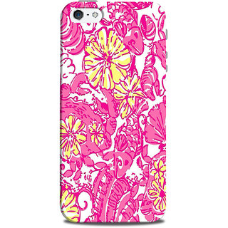 Mikzy Flower Pattern Printed Designer Back Cover Case for Iphone 5/5S