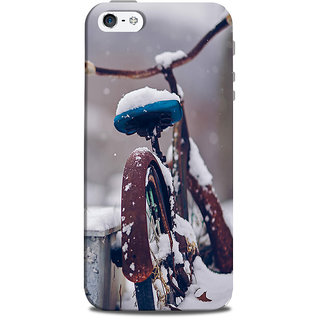 Mikzy Bicycle Covered With Snow Printed Designer Back Cover Case for Iphone 5/5S
