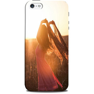 Mikzy Girl Standing In A Pose  Printed Designer Back Cover Case for Iphone 5/5S