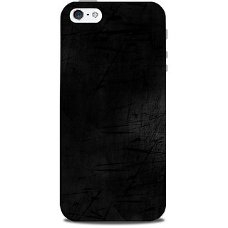 Mikzy Black Texture Pattern Printed Designer Back Cover Case for Iphone 5/5S