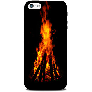 Mikzy Bonefire Effect Printed Designer Back Cover Case for Iphone 5/5S