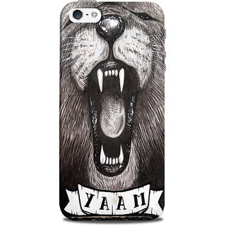 Mikzy Animal With Big Teeth Printed Designer Back Cover Case for Iphone 5/5S