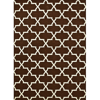 Flat Weave Flat Weaves Cocoa Brown Wool Area Rugs By Jaipur Rugs