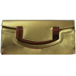 BagsHub Golden Party Sling-cum-clutch (B0449-0001700003-V004)