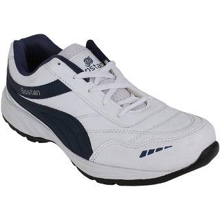 Bostan Men White Navy Shoes