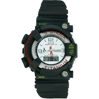 Crude Smart Double Time Watch rg319 With Adjustable Rubber Strap